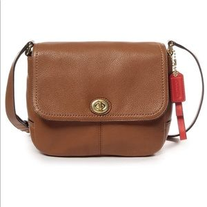COACH Park Leather Crossbody in Brown